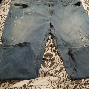 Lane Bryant Light wash distressed jean
